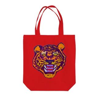 Tiger hoge Tote bags