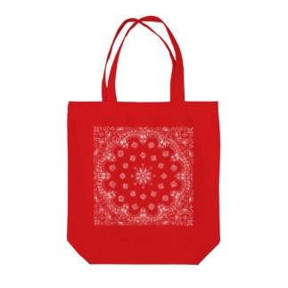 風丸本舗のペイズリーラバーズ Tote bags