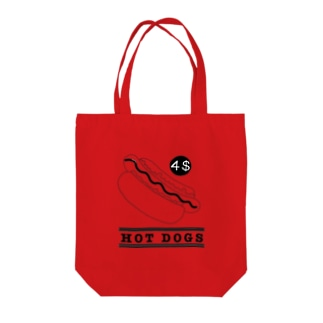 HOT DOGS Tote bags