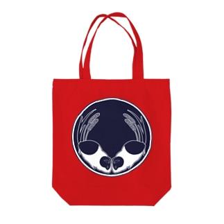 向かい天竺鼠と大粟還の家紋 Tote bags