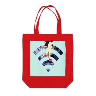 U____ri0711のWi-Fiちゃん  。 Tote bags