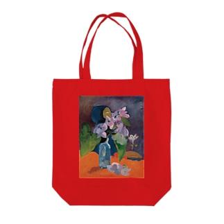 花とアイドルのある静物 Tote bags