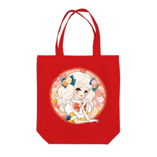 ロマンチックガール Tote bags