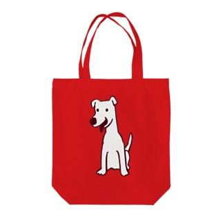 白い犬 Tote bags