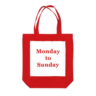 Monday to Sunday Tote bags