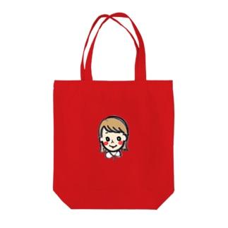 切りっぱなしボブ子 Tote bags
