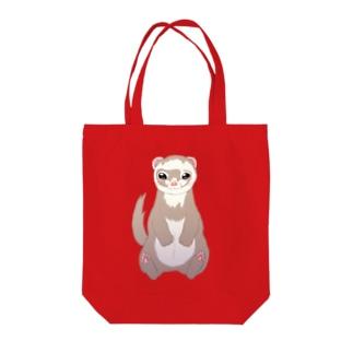 フェレットシャンペン Tote bags