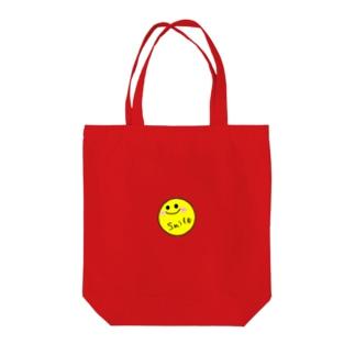 シンプルスマイル Tote bags