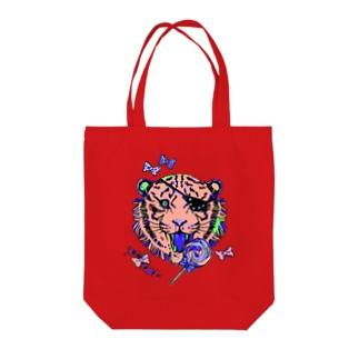 毒毒虎毒 Tote bags