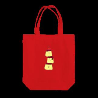ekubostoreのトリオ・ザ・プリン 「ゼッタイウマクイク!」 Tote bags