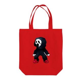 ホラふきん Tote bags