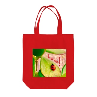Happyてんとう虫(Love) Tote bags