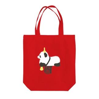 パンダ Tote bags
