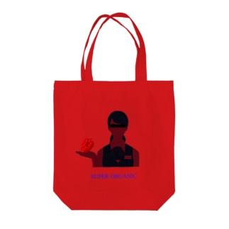 super organic Tote bags