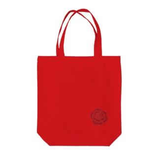 深紅のバラ Tote bags
