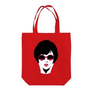 マッシュルームグラス Tote bags