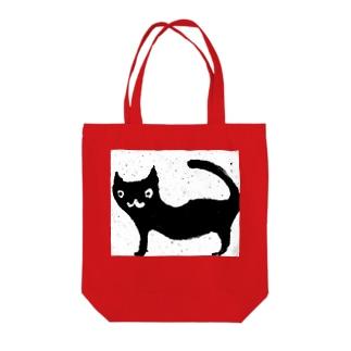 黒い猫 Tote bags