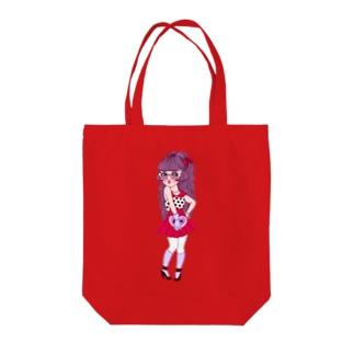 ハーフツインテちゃん Tote bags
