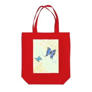厘屋 ・rin-ya・の蝶と花 Tote bags