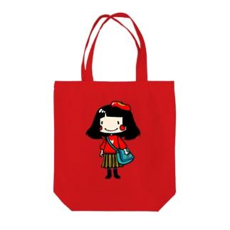 おっちょ子ちゃんグッズ Tote bags