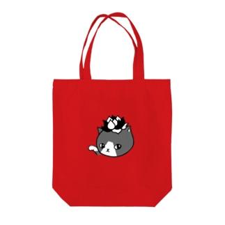 エケネコ(モノクロ) Tote bags
