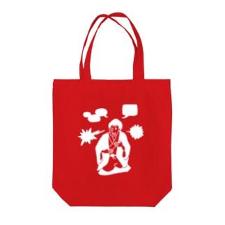 PADKA(ぱだか)の落語家 White Tote bags