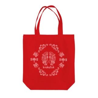 krakatuk吉祥鳥獣蟲紋 (レッド) Tote bags