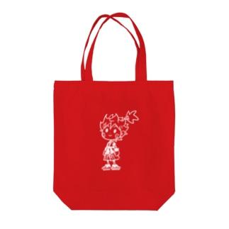 ラクガキヒノマル(WHITE) Tote bags