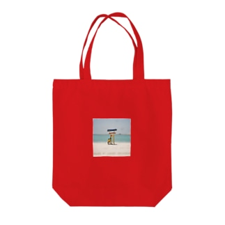 Lonely beach Tote bags