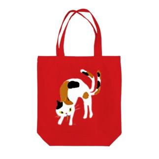 おばけバッグ<大きい猫又> Tote bags