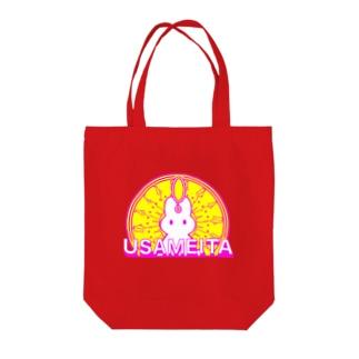 閃きウサギ USAMEITA 後光バージョン Tote bags