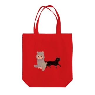 BearBaby&Cat Tote bags