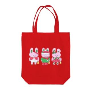 うさぎクリスマス Tote bags