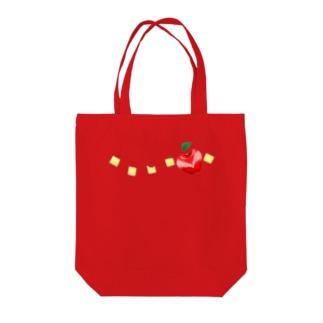 APPLE'S WRINGO  SQUARE Tote bags
