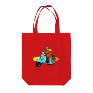 Coda surfdog Tote bags