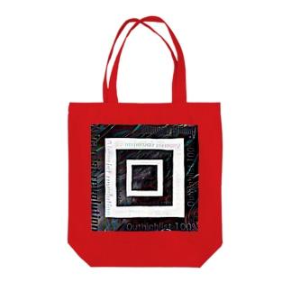 テキスト2021 融合モノクロ Tote bags