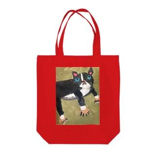 愛嬌ボストンテリア Tote bags