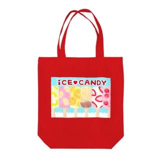 アイスキャンディーズ Tote bags