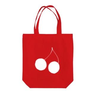 ホワイトチェリー Tote Bag