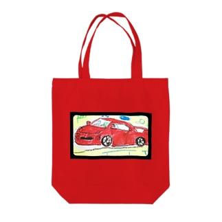 赤い車 Tote bags