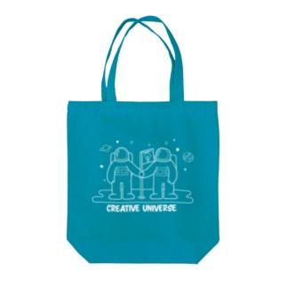 クリエイティブユニバース Tote bags