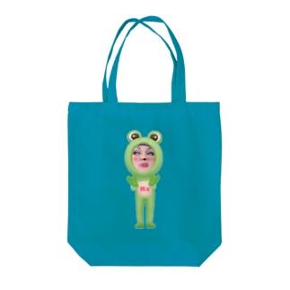 Na ちゃんカエルバージョン Tote bags