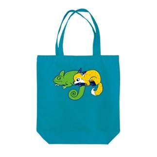 エボシカメレオンっぽい Tote bags