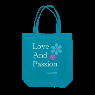 DAISY CREATE   デイジークリエイト   愛と情熱を日常で感じるのLove and Passion 素敵なライフ Tote bags