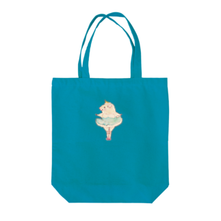 nins・にんずのモルモットのバレリーナちゃん青 Tote bags