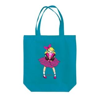 ロカビリーガールⅡ【pink】 Tote bags
