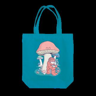mの店のきのこに雨宿り Tote bags