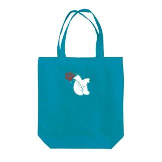 バラとおやすみ Tote bags