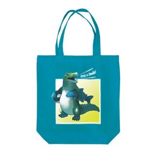 サメとシャチのぬいぐるみ(Croc a smile!) Tote bags