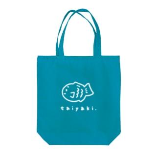 たい焼きグッズ(青ベース) Tote bags